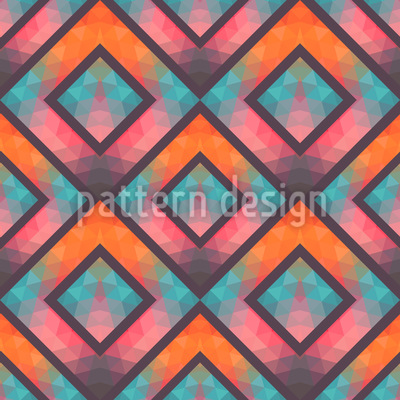 Crystal Mosaic Pattern Design