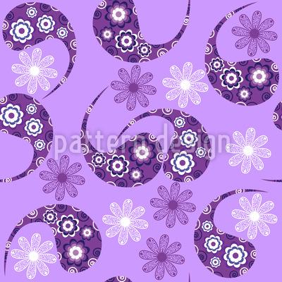 Paisley Trifft Blume Rapportiertes Design