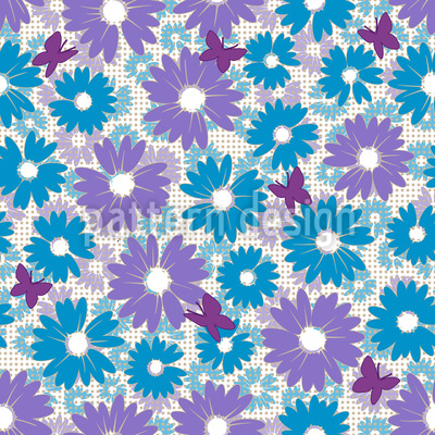 Daisies Repeat Pattern