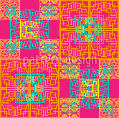 Expression Oriental Seamless Pattern