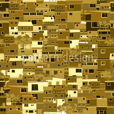 Eine Stadt In Afrika Muster Design