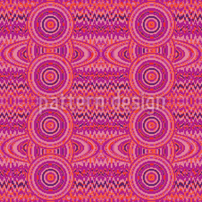 Female Pixel Planets Seamless Vector Pattern Design