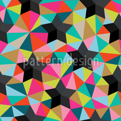 Stars On Colored Glass Seamless Vector Pattern Design