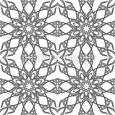 Monocromático Gótico Design de padrão vetorial sem costura