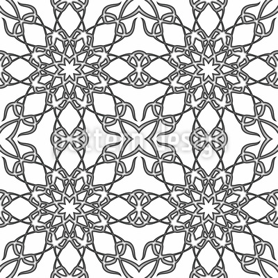 Monochrome Gotik Nahtloses Vektormuster