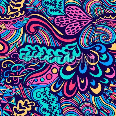 Neon Fantasien Nahtloses Vektor Muster