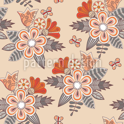 Hochsommer Blumen Vektor Muster