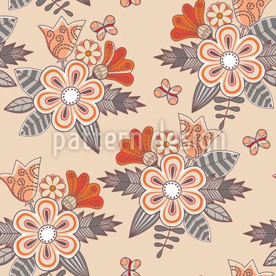 Midsummer Flowers Vector Pattern