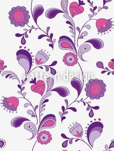 Blumen Aus Den Siebzigern Vektor Muster