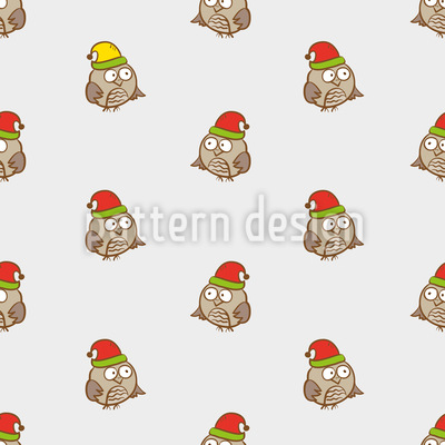 Funny Owls Vector Pattern