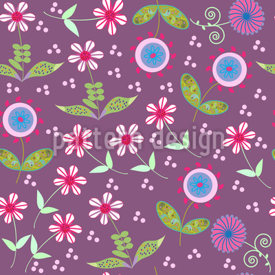 Land Of Floralia Repeating Pattern
