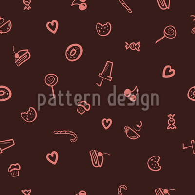 I Love Sweets Seamless Vector Pattern Design