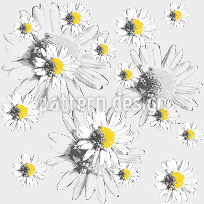 Daydream With Daisies Seamless Vector Pattern Design