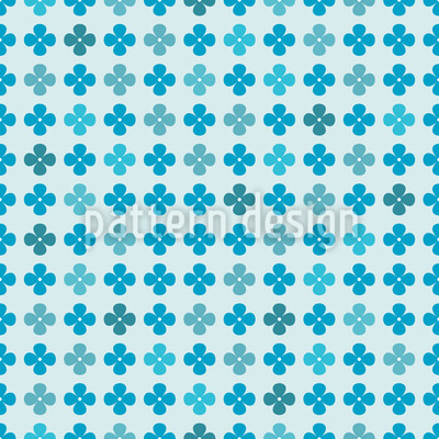 Flora Blues Vector Pattern