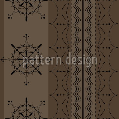 Nordic Brown Seamless Vector Pattern Design