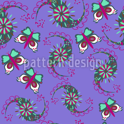 Butterflies Dance Repeating Pattern