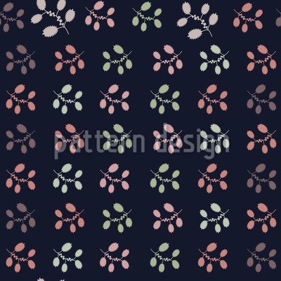 Blumen In Reihen Vektor Muster