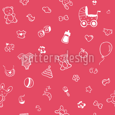 Happy Baby Seamless Vector Pattern Design