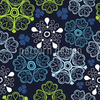 Florale Glücksmomente Nahtloses Muster