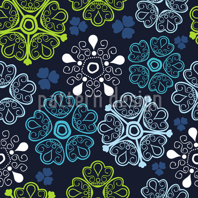 Moments Of Floral Happiness Seamless Pattern