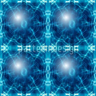 Ozeanische Glaskugeln Nahtloses Vektor Muster