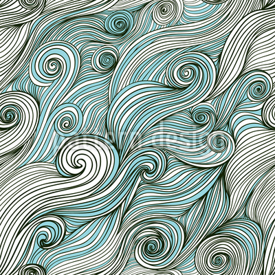 God Of The Ocean Pattern Design