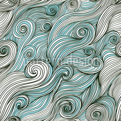 Gott Des Ozeans Muster Design