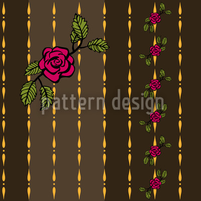 Chain Of Roses Vektor Ornament