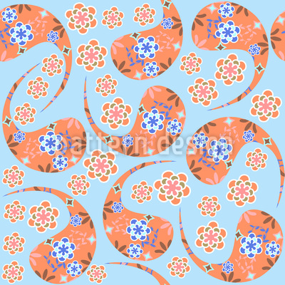 The Heaven Is Full Of Paisleys Vector Ornament