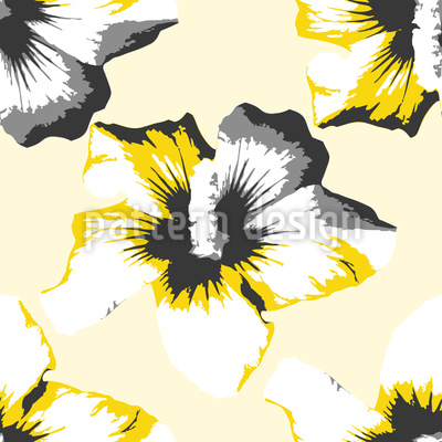 Pop Art Hibiscus Vector Pattern