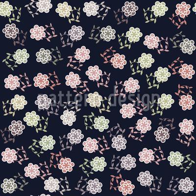 Mädchen Träumen Nachts Von Blumen Vektor Design