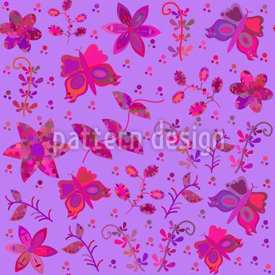 Schmetterlinge Im Patchwork Park Rapportmuster