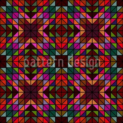 Fensterglas Mosaik Nahtloses Vektormuster