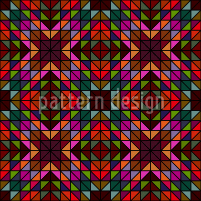Window Glass Mosaic Seamless Vector Pattern Design