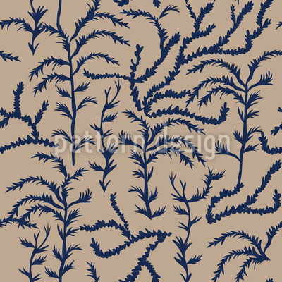 Dark Cypress Impression Vector Pattern