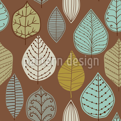 Scandinavian Leaf Archives Seamless Vector Pattern Design