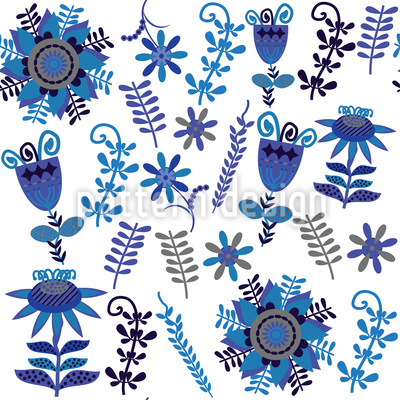Flora Folklore Pattern Design