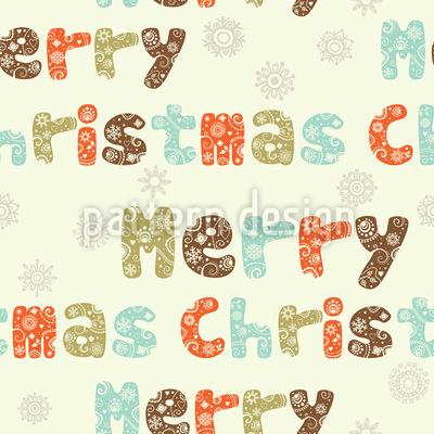 Nochmal Weihnachten Nahtloses Muster