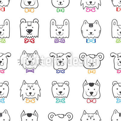 Elegant Pet Party Seamless Vector Pattern Design