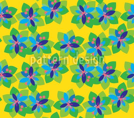 Tropical Paper Flowers Vector Ornament