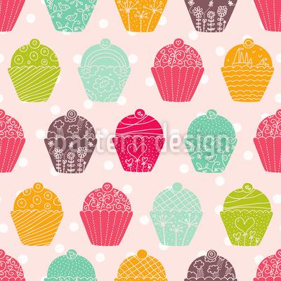 NY Cupcakes Vektor Muster