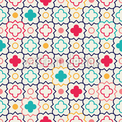 Quatrefoil Lattice Seamless Pattern