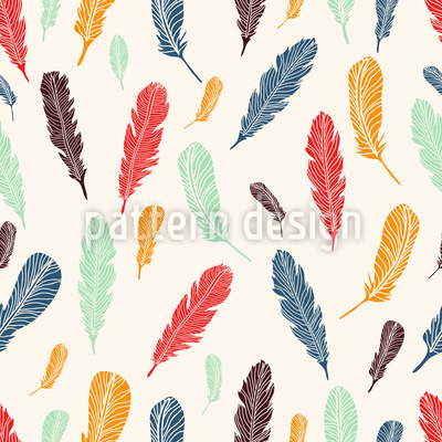 Feathers Seamless Vector Pattern
