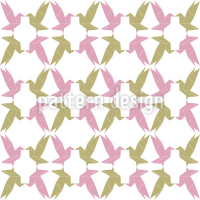 Origami Birds Repeat Pattern