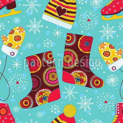 Winter Spass Vektor Ornament