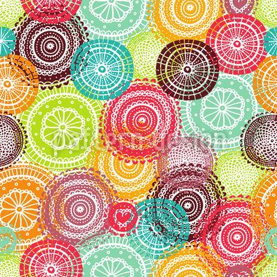 Summer Doilies Seamless Vector Pattern Design