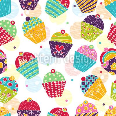 Muffins Für Sweet M Nahtloses Muster