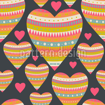 Heart And Soul Seamless Vector Pattern