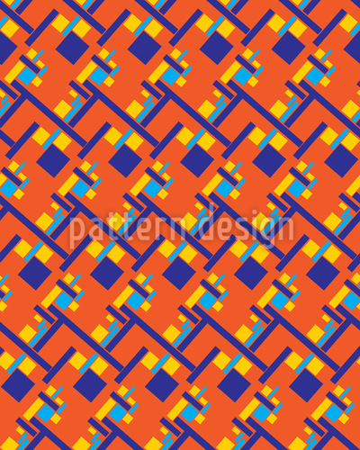 African Open Space Office Vector Pattern