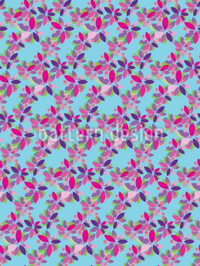 Little Flower Fantasy Repeating Pattern